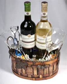 wine gift baskets eight wine basket ideas for fundraising