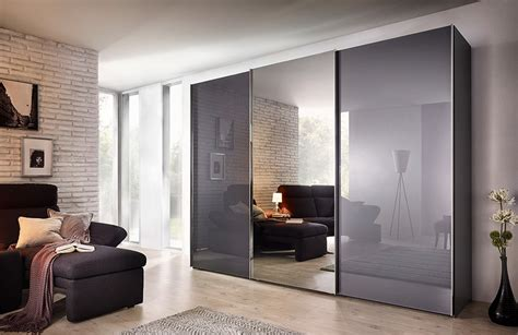 Sliding Wardrobe Mirror Doors Uk by Buy Nolte Evena Glass And Grey Mirror Doors Sliding