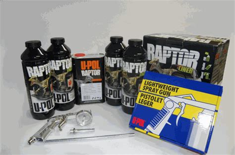 bed liner spray kit u pol raptor black truck bed liner kit with spray gun