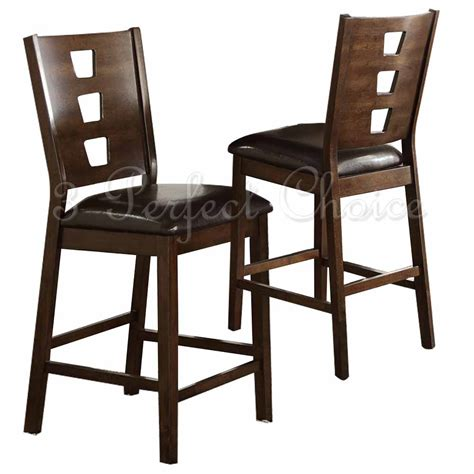 modern counter high chairs set of 2 modern 24 quot h counter high dining side chairs pu