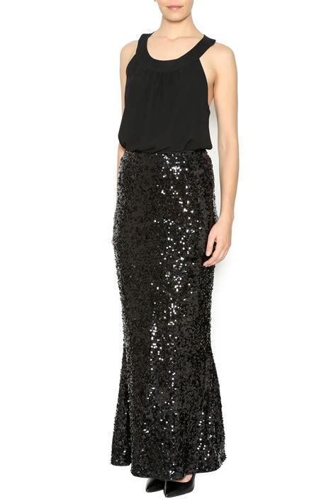 sequin maxi skirt from las vegas by glam squad shop