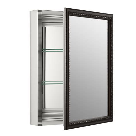 bathroom mirrored medicine cabinets medicine cabinets wayfair 20 x 26 wall mount mirrored