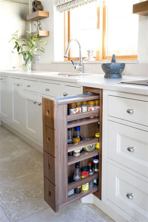 diy pull out spice rack cabinet rollout drawers solution for saving space in your kitchen