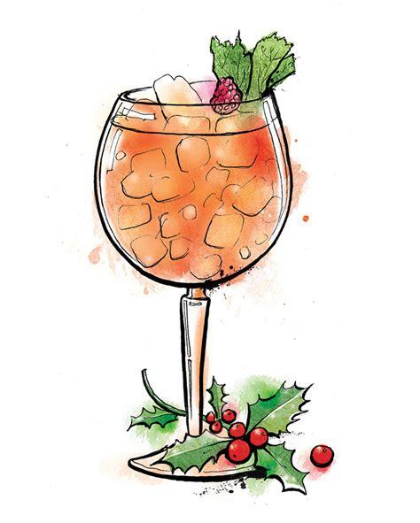 cocktail illustration christmas cocktail illustrations lisa maltby