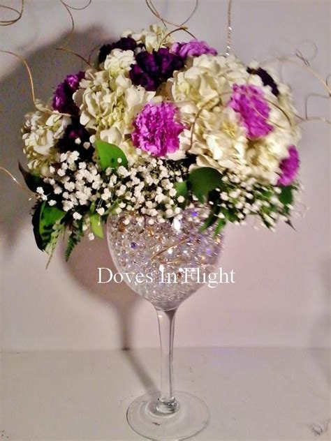 wine glass centerpiece for tables 25 best ideas about wine glass centerpieces on