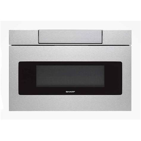 sharp 1 2 cu ft 24 inch built in flat panel microwave