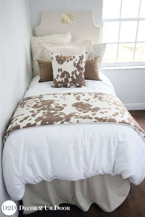 cowhide comforter set tan cowhide designer dorm bedding set decor 2 ur door