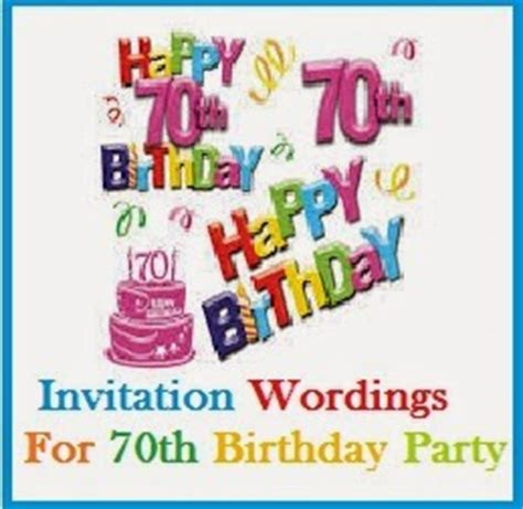 What To Write On 70th Birthday Card Sle Invitation Wordings