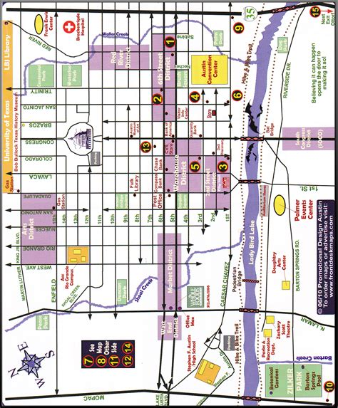texas downtown map from with everything about texas