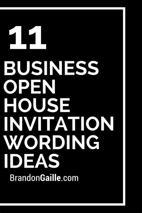 invitation templates for business open house 11 business open house invitation wording ideas open