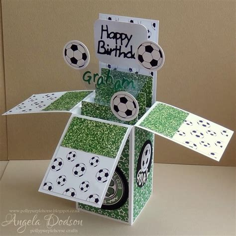 how to make card boxes football pop up box card craft inspiration