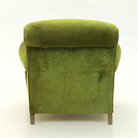 green velvet armchair italian mid century green velvet armchair 1940s at 1stdibs