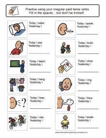 irregular past tense verb worksheets preschool speech