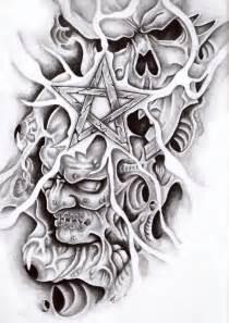 demon star skull tattoo design all tattoos for men