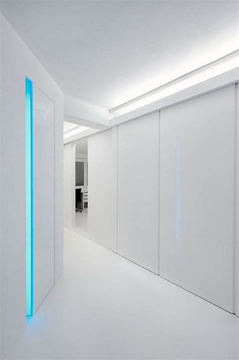Exciting House Plans Renovated White Apartment With Futuristic Interior Design