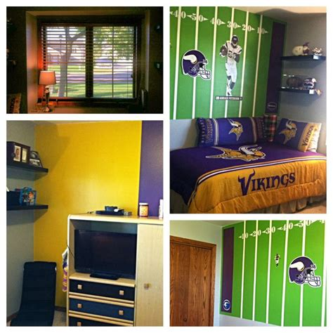 minnesota vikings bedroom for my 9 year skol