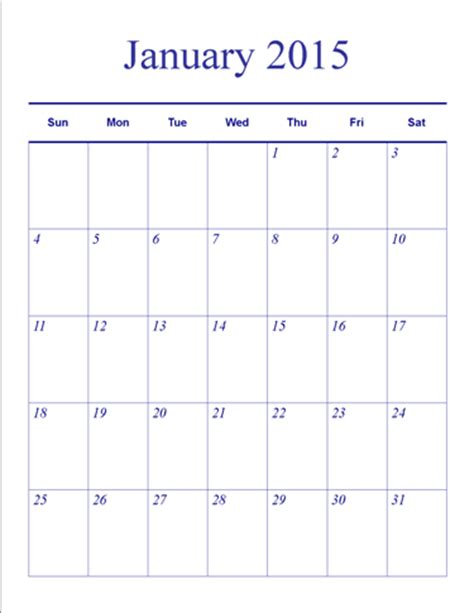 easy calendar template understated theme monthly vertical blank calendar template