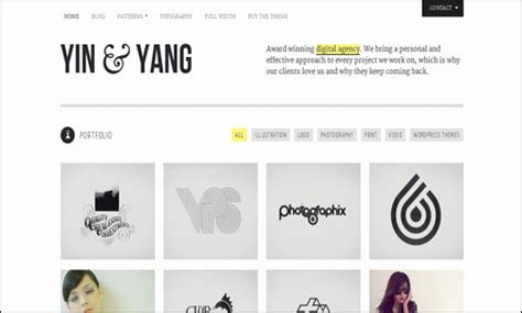 themeforest yin yang siti web per creativi 70 temi wordpress in stile portfolio