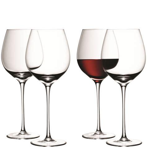 bicchieri da bianco e rosso lsa vetro rosso o bianco bicchieri da calici senza