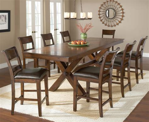 counter height trestle table counter height trestle table by hillsdale wolf and