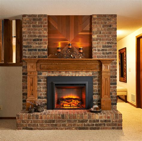 Electric Fireplace Kit by Greatco 29 In Electric Fireplace Insert 36 In Flush