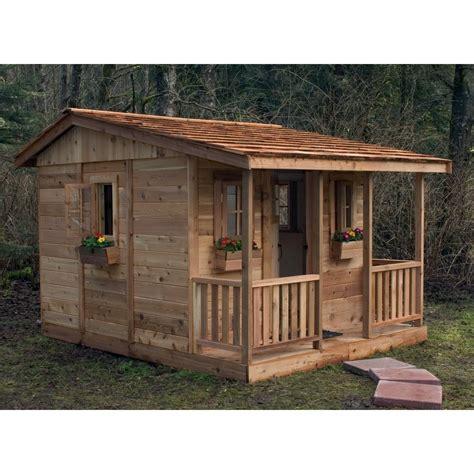 outdoor play house cozy cabin cedar playhouse outdoor playhouses at hayneedle
