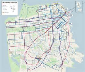 san francisco map muni behold the new muni map streetsblog san francisco