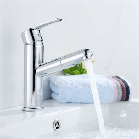 pull out bathroom faucet classical copper single handle bathroom faucet for pull out