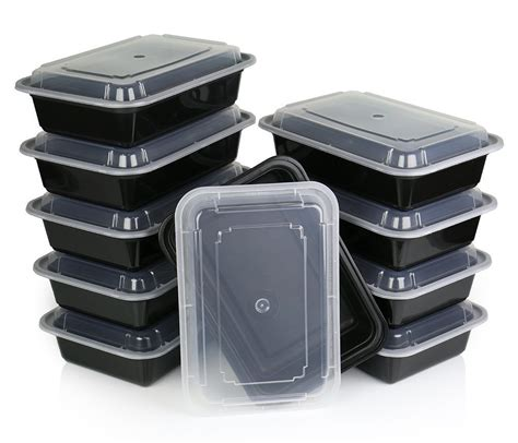 food container meal prep containers set of 10 single compartment containers w reusable smoothie