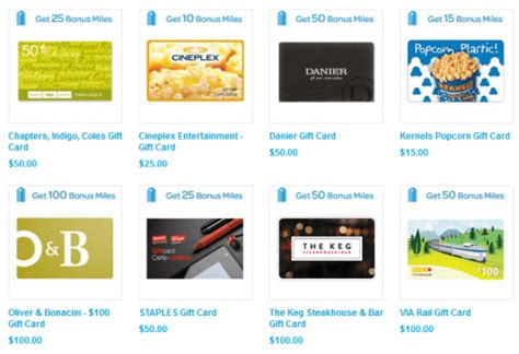 Buying Gift Cards To Earn Miles - air miles gift card zone earn up to 1 air mile per 1 spent on gift cards canadian