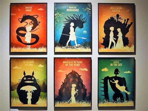 ghibli film set our studio ghibli poster set just came in proudly on
