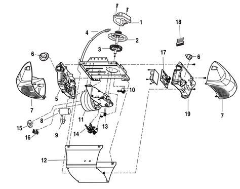 Chamberlain Garage Door Opener Parts Diagram
