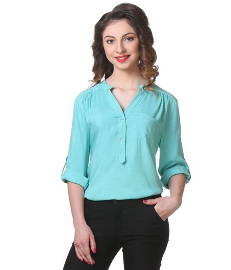 Tunik Rayon 1 buy purys turquoise rayon tunics at best prices in india snapdeal