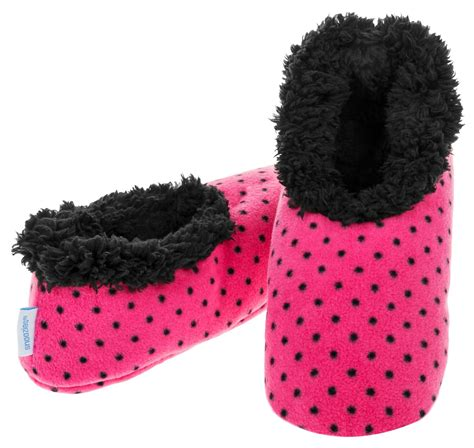 slippers snoozies snoozies slippers bright print fleece uk size 3 4 5