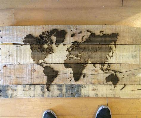 Pallet Wood pallet wood laser engraved map