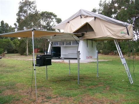 tent trailer awning utepod ute pod slide on cer with roof top tent awning