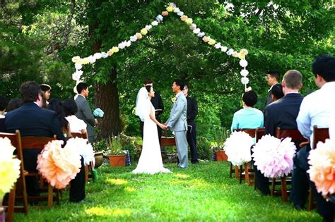 Backyard Wedding Ceremony Decoration Ideas Yard Wedding Decoration Ideas Weddings