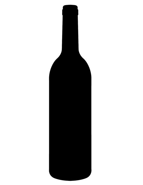 wine silhouette principles of graphic art bottles
