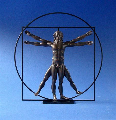 Wall Stickers Make Your Own mouseion the vitruvian man bronze decovista toms