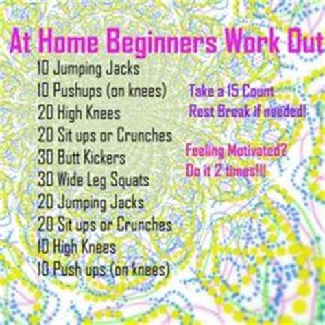 beginners home workout plan 1000 images about beginner s workout on pinterest