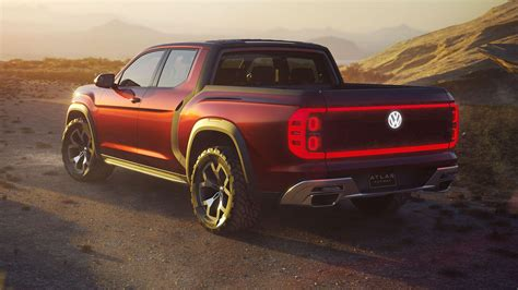 vws atlas pickup truck concept  real  dont   excited roadshow