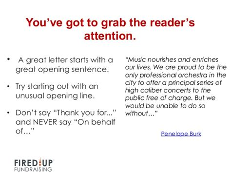 Fundraising Letter Opening Lines How To Write A Killer Thank You Letter