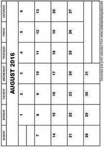 free blank printable calendar templates 2016 calendar