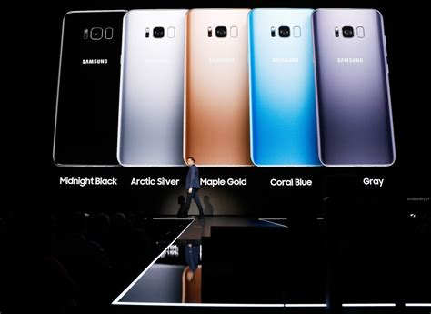 la galaxy colors samsung galaxy s8 and s8 plus will come in 5 colors