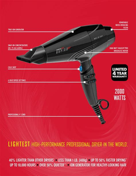Babyliss Pro Rapido Hair babylisspro rapido dryer luxury