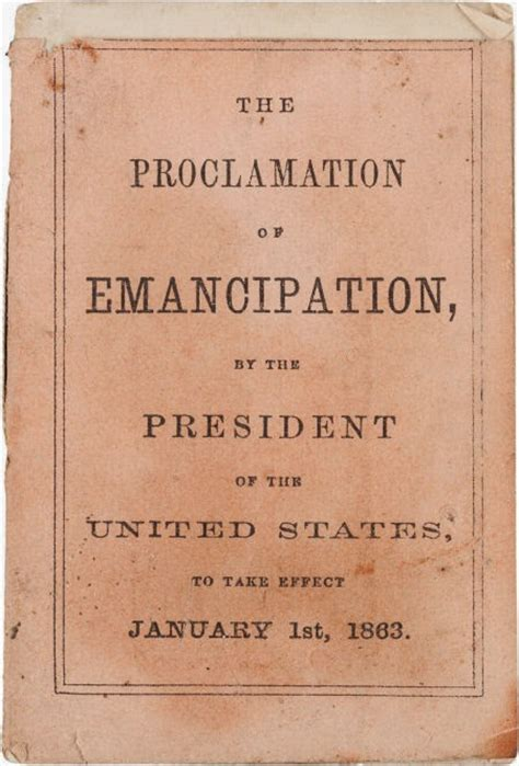 BOOKTRYST: 1st Edition Of Emancipation Proclamation ... Emancipation Proclamation Actual Document