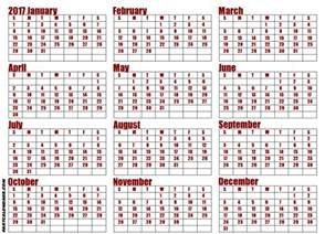 Whole Year Calendar Template by Calendar Year 2017 Pdf Calendar Template 2016