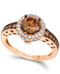 levian engagement rings le vian chocolate and white engagement ring in 14k gold 1 5 8 ct t w in brown