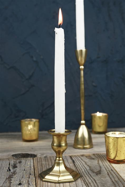Taper Candle Holders by Gold Metal 3 Quot Taper Candle Holder Antique Candlestick