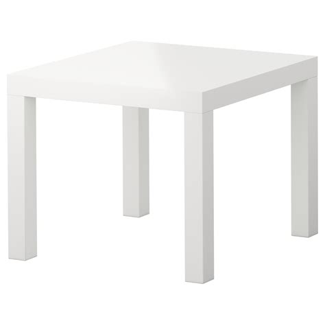 White Gloss Side Table Lack Side Table High Gloss White 55x55 Cm Ikea